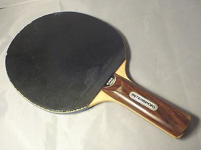 Vintage 1960s- 1970s INTERSPORT table tennis  paddle