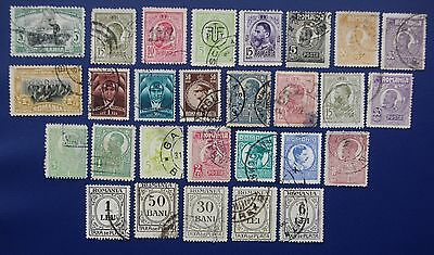 ROMANIA - Early Collection of Used Stamps