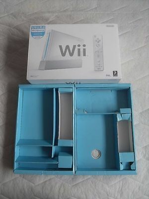 Nintendo Wii console replacement empty box and paperwork only