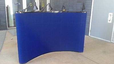 Skyline Mirage Blue Portable Curved Trade Show Light Display Exhibit Booth Panel