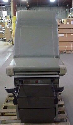 Ritter 100-024 Avocado Green Exam Table w/ Stirrups & Drawers USED