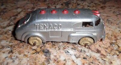 """Antique Metal Toy Texaco Oil Tanker Truck 5"""" Hubley 1930s Rare! nice paint"""