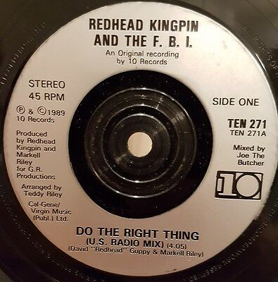 "Rap Hip Hop 7"" 45 Redhead Kingpin Do The Right Thing"
