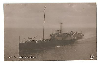 zx scotland scottish postcard pss glen rosa boat ship