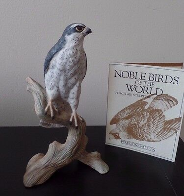 Franklin Mint - Noble Birds Of The World - Peregrine Falcon - Excellent