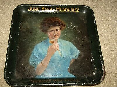 "JUNG BEER  square ""BERTHA"" pre-pro tray MILWAUKEE, WISCONSIN"