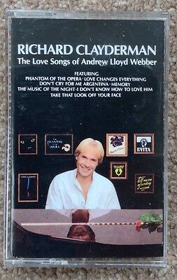 Richard Clayderman 'The Love Songs Of Andrew Lloyd Webber' Music Cassette