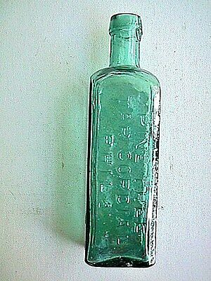 L Q G Wisharts Pine Tree Tar Cordial Collectible Antique Bottle