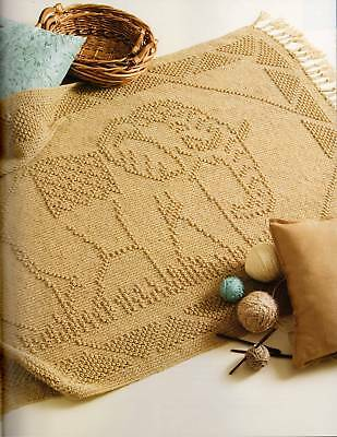 Crochet Pattern Book Charted Picture Afghans 5 Fringes & 5 Designs
