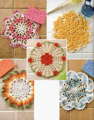 Crochet Pattern Book Dazzling Dishcloths Doily Dishcloths 10 Quick Easy Designs