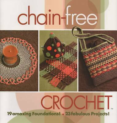 Crochet Pattern Book Chain-Free Crochet Afghans Sweaters Doilies Retro Bag More