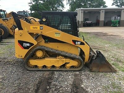 2012 Caterpillar 259B3 Rubber Track Skid Steer Loader 4-in-1 Cab AC Cat Tractor