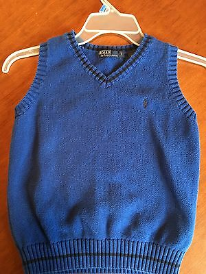 Polo Ralph Lauren Sweater Vest  Blue Size 7 Pre-Owned