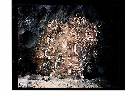 Twin Peaks Owl Cave 8 X 10 Petroglyph Photo From Original