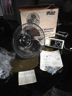 "Rare NOS Vintage 60-70s Lasko Galaxy 12"" Oscillating Fan Wall Mount Model 3162A"