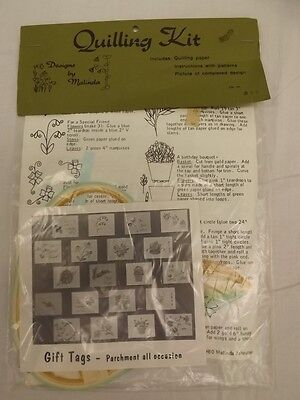 Vtg 1980 NEW NOS All Occasion Variety 20 Parchment Paper Gift Tags QUILLING KIT