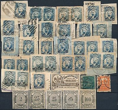 Mexico , Classic Unchecked Lot Of Different Mint & Used Stamps & Revenues #b662