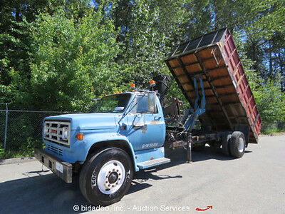 GMC Topkick 18' Flatbed Rugby Dump Hiab Knuckleboom Winch PTO Outriggers Diesel