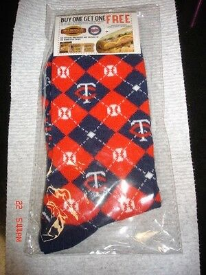 Minnesota Twins 2017 Father's Day Give-A-Way Argyle Socks Brand New