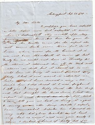 1850 Newburyport Ma Stampless Folded Letter To Haverhill Mass - Great Content