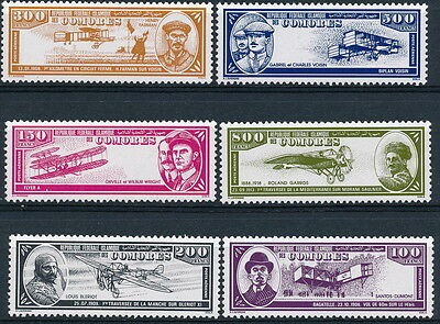 Comores Island 1968, Nice Aviation History, Aircrafts Stamps Set, Um/nh .  #b666