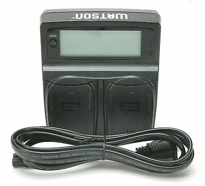 Watson Duo LCD Charger With Tester & Two Canon LP-E6 Battery Plates. Accurate.