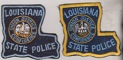 Louisiana State Police patches, two variations