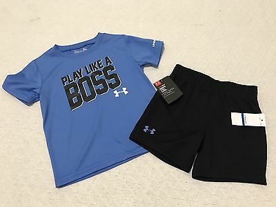 New Under Armour Infant Boys / Toddler 2pc Set Size 24 Months