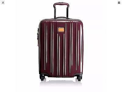 Tumi 228061 V3 MERLOT continental Spinner Carry on Luggage Polycarbonate
