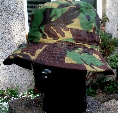 British Army DPM Camo Jungle Bush Hat 55 S Cap Genuine Issue USED Tropical Boony