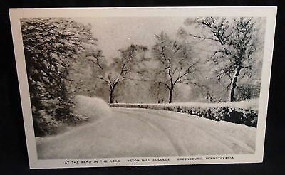 At The Bend In The Road Seton Hill College Greensburg Pennsylvania Postcard  **