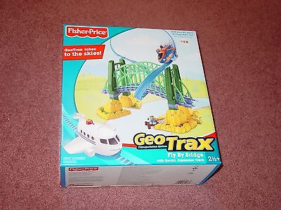 Fisher Price GeoTrax Fly By Bridge with Expansion Track in Box for Train