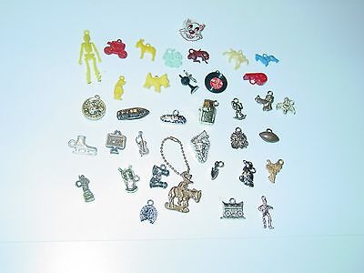 Lot of 36 Cracker Jack or Gumball Prizes Charms Premiums Toys Ring Key Chain