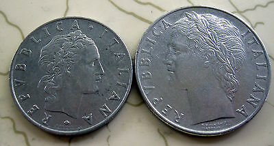 2Coins Italy 50&100L 1955 Xf T31