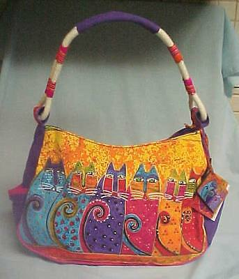 New Laurel Burch Tb5243 Feline Tribe Cat Hobo Bag Purse-Nwt