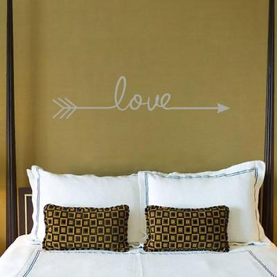 Love Arrow Decal Living Room Bedroom Vinyl Carving Wall Decal Sticker #11