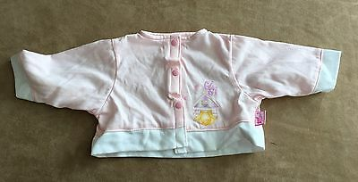 "Zapf baby doll GiGi shirt 7"" long clothes clothing replacement pink gi gi"