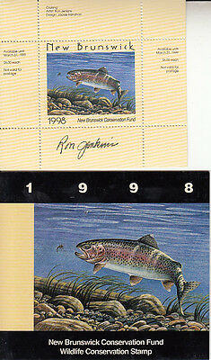 Canada New Brunswick MNH Conservation SIGNED 1998 Van Dam NBW5a   Value $ 26.00