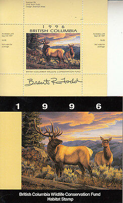 Canada British Columbia MNH Conservation 1996 SIGNED Van Dam BCC2a   Value $ 32.