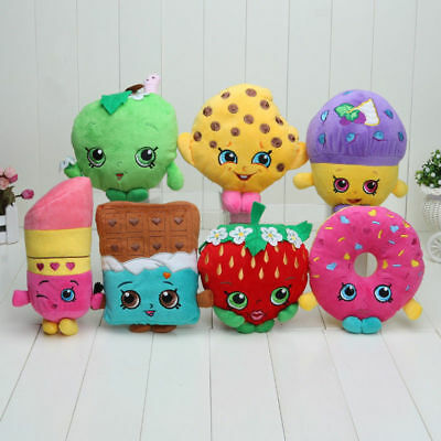"7""Shopkins Plush Toy Mini Muffin Doughnut Lipsticks Chocolate Stuffed Doll Toys~"