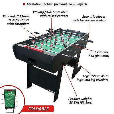 Viavito FT100X 4ft Folding Football Soccer Foosball Game Table with 2 Balls
