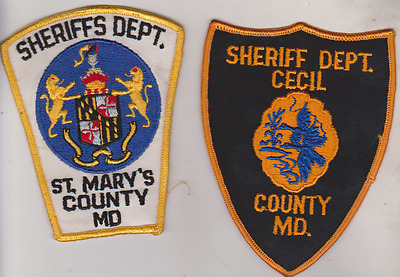 Cecil County & St marys County MD Sheriff Department patches