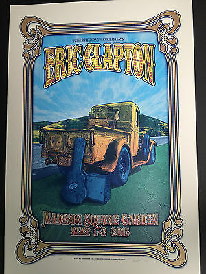 Eric Clapton 2015 Madison Square Garden Poster Sold Out At Venue Limited Edition