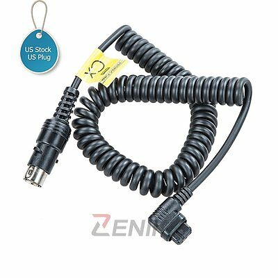 US Godox CX Power Cable for PB820 PB960 Battery Pack Canon 550EX 580EX II Flash