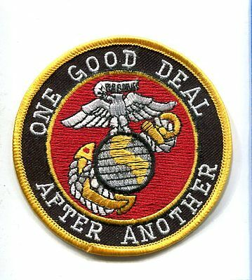 ONE GOOD DEAL AFTER ANOTHER USMC MARINE CORPS GLOBE ANCHOR Veteran Patch
