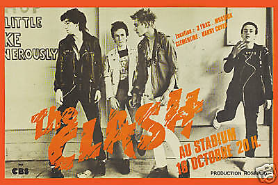 London Calling: The Clash at  Paris France Concert Poster 1979