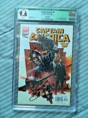 Captain America Out Of Time Part 6 Variant Edition Signed by Sebastian Stan CGC