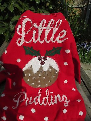 Mothercare Blooming Marvelous Maternity Christmas Jumper, Little pudding. BNWOT