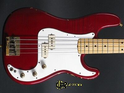 1980 Fender Precision Special Bass / - Candy Apple Red -