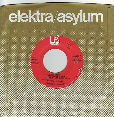 """7"" - EDDIE RABBITT - Drivin` my life away - US-Press."
